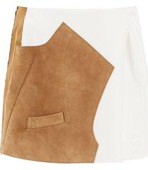 marni bi-material mini skirt