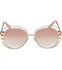 chloé women's 57mm round sunglasses - rose