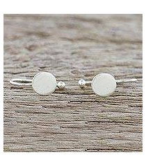 sterling silver ear cuffs, 'circle shimmer' (thailand)
