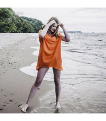 tunika ząbek pomarańczowa