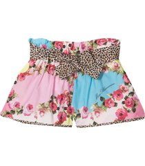 miss blumarine floral shorts