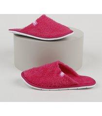 pantufa slipper de pelo infantil molekinha rosa escuro