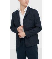 selected homme slhreg-dave linen hybrid blz b kavajer & kostymer mörk blå