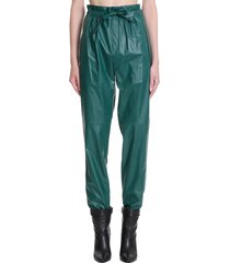 isabel marant duard pants in green tech/synthetic