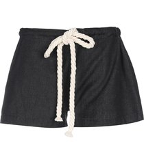 paola rodriguez denim shorts