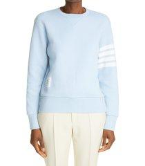women's thom browne 4-bar cashmere & cotton blend women's sweater, size 8 us - blue