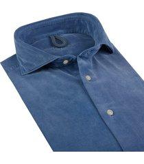 profuomo overhemd corduroy extra cutaway slim fit