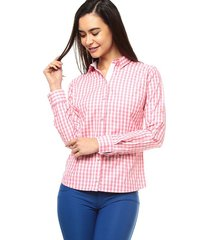 blusa manga larga mujer style liq s3285 - rosa
