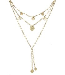 ettika layered coin lariat necklace in gold at nordstrom