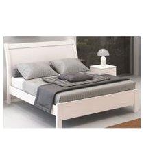 cama de casal elegance 1,40 branca móveis fazzio