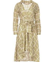 asymmetrische midi-jurk tess  groen