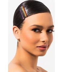 akira lucky charm rhinestone hair clip set