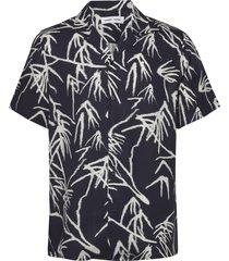einar sx aop 10527 overhemd met korte mouwen blauw samsøe samsøe