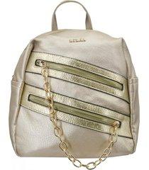 mochila columba dorado lilás carteras