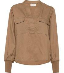 lr-isadora blouse lange mouwen bruin levete room