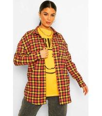 geruite oversized blouse, mustard