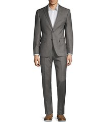 two-piece extra slim fit textured wool suit