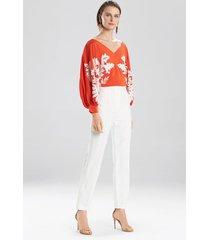 natori paloma pants, women's, cotton, size 0