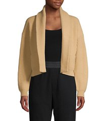 cropped wool cashmere cardigan
