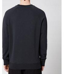 maison kitsuné men's double fox head patch classic sweatshirt - anthracite - l