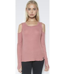 filippo open shoulder top - l rose garden