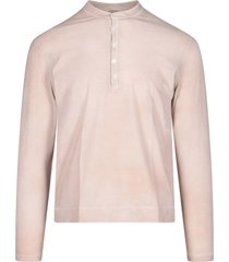 front buttoning long sleeved t-shirt