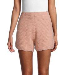 allison new york women's knit shorts - blush - size l
