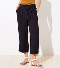 loft beach tie waist wide leg pants