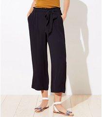 loft loft beach tie waist wide leg pants