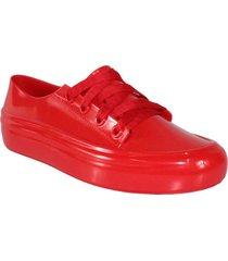 tenis 100% plástico rojo wanted converse