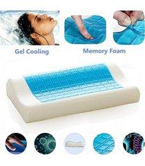 almohada memory foam sensor gel mantiene fresco + funda