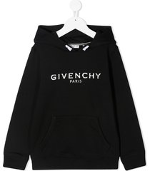 givenchy jersey hoodiet with logo print