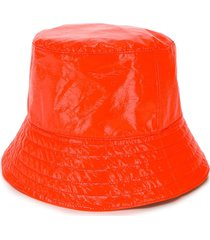 manokhi vinyl bucket hat - orange