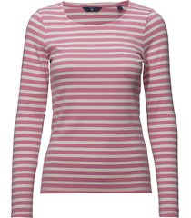 1x1 rib ls t-shirt t-shirts & tops long-sleeved roze gant