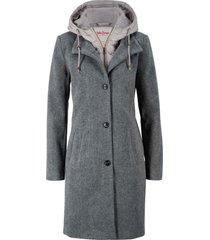 cappotto corto in misto lana 2 in 1 (grigio) - john baner jeanswear