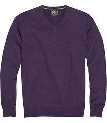 jos. a. bank traveler men's purple modern fit merino sweater - size: xl