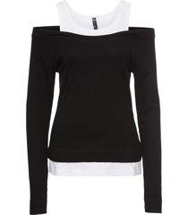 maglia 2 in 1 (nero) - rainbow