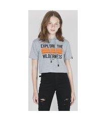 t-shirt ampla com capuz cinza tsh82323 cinza