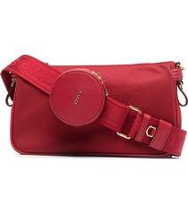 bally elenia strap-pocket shoulder bag - red