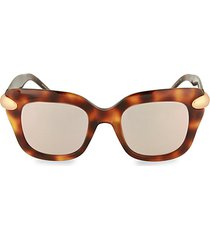 49mm square cat eye sunglasses