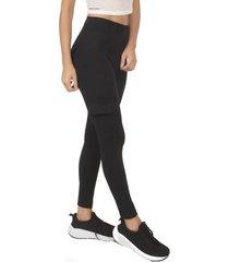 calza leggings estilo cargo negro bia brazil