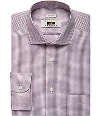 joseph abboud burgundy check dress shirt