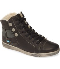 cloud aline water resistant bootie, size 9.5-10us in black leather at nordstrom