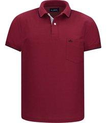 camiseta tipo polo vinotinto hamer bolsillo bordado