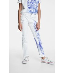 white bolimania cat jeans - white - 13/14