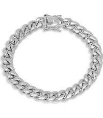 anthony jacobs men's stainless steel miami cuban-link bracelet