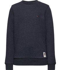 back insert cn sweatshirt sweat-shirt trui blauw tommy hilfiger