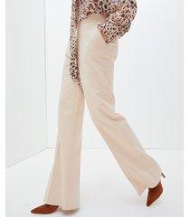 motivi pantaloni flare donna beige