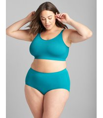 lane bryant women's ribbed seamless bralette with strappy back 14/16 pagoda blue