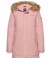 miss lee jacket parka lange jas jas roze svea